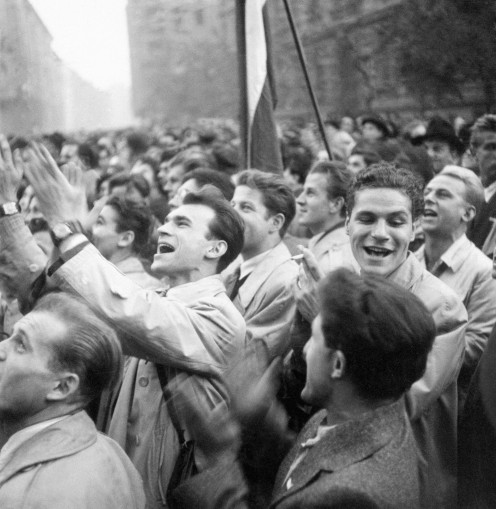 Demonstration on 23th October, 1956. MTI Archive: Ferenc Fehérvári